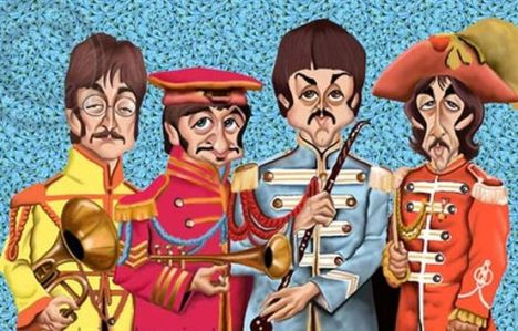 caricatura-the-beatles
