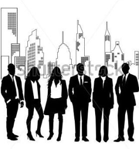 stock-vector-vector-team-of-successful-and-fashion-people-standing-on-a-front-of-a-urban-stylish-skyline-8204710