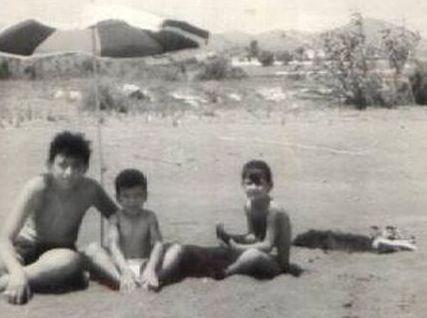 Tres amigos en la Playa