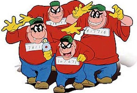 DUCKTALES, The Beagle Boys, 1987-1990