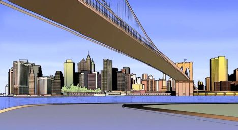 bridge_cartoon_art_span