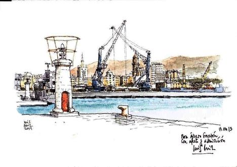 urban sketcher luis ruiz