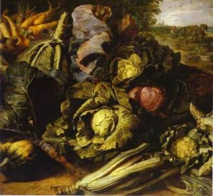 -Oil-painting-Vegetable-Still-Life