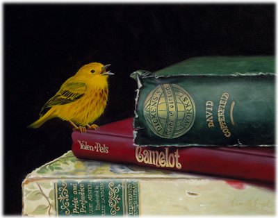181-Yellow-Warbler-Bird-books-Oil-Painting