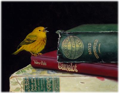 181-Yellow-Warbler-Bird-books-Oil-Painting