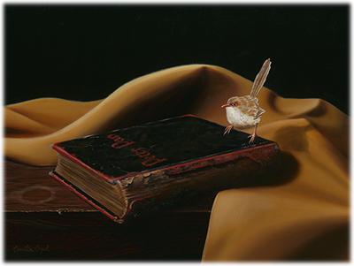 214-Peter-Pan-Book-Fairy-Wren-Realism-Oil-Painting