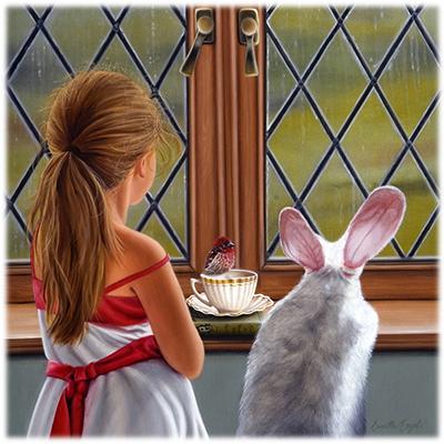 246-Alice-Wonderland-Realism-Bird-Painting