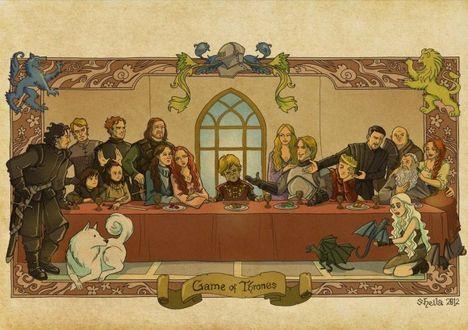 la ultima cena juego de tronos