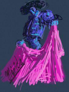 Abriendo El Capote. Pintura Digital. MLG. 2013