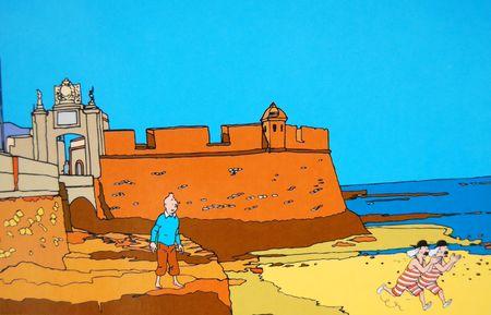 Bañito en la playa de la Caleta