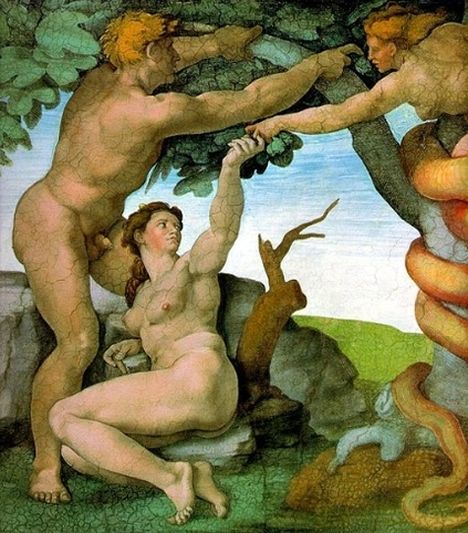 michelangelo-buonarroti-european-old-master-painter-sculpter-painting-the-temptation-of-adam-and-eve