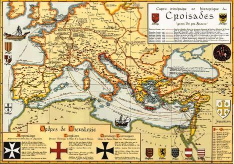 mapa de las cruzadas