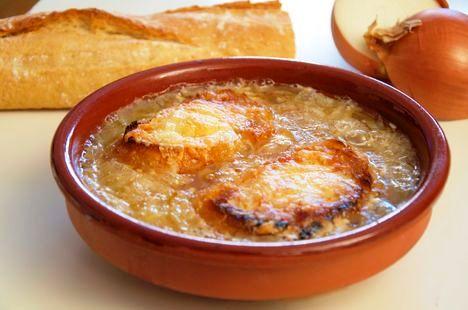 sopa de cebolla