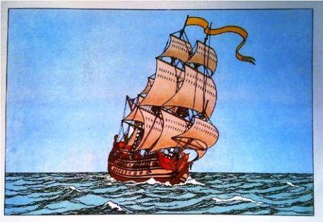 tintin_unicornio_barco