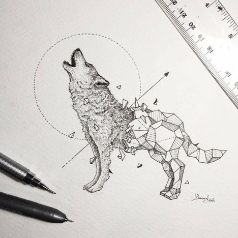 Wild-Animals-Intricate-Drawings-Fused-With-Geometric-Shapes-01