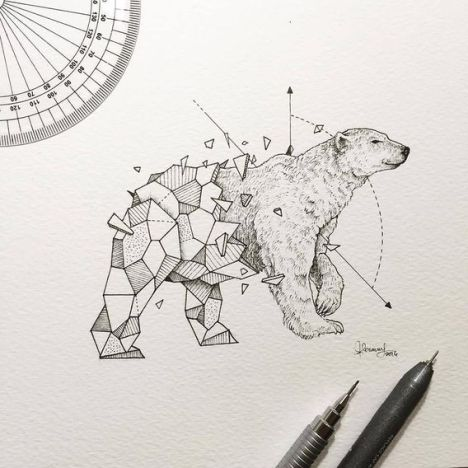 Wild-Animals-Intricate-Drawings-Fused-With-Geometric-Shapes-by-Kerby-Rosanes-3