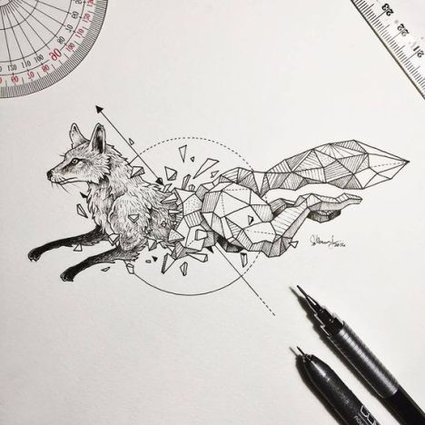 Wild-Animals-Intricate-Drawings-Fused-With-Geometric-Shapes-by-Kerby-Rosanes
