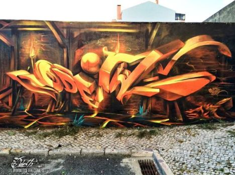 3D-Graffiti-letters-deep-on-Fire-Odeith-Rio-de-Mouro-Portugal