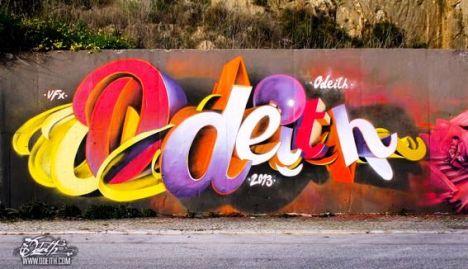 3D-Graffiti-Letters-Mural-Odeith-combo-colors-vila-franca-de-xira-Portugal