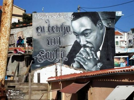 Graffiti-tribute-to-Martin-Luther-King-Odeith-Cova-da-Moura-Portugal